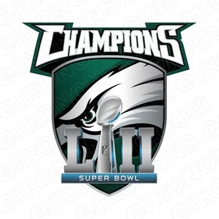 PHILADELPHIA EAGLES SUPER BOWL CHAMPIONS LOGO SPORTS NFL.