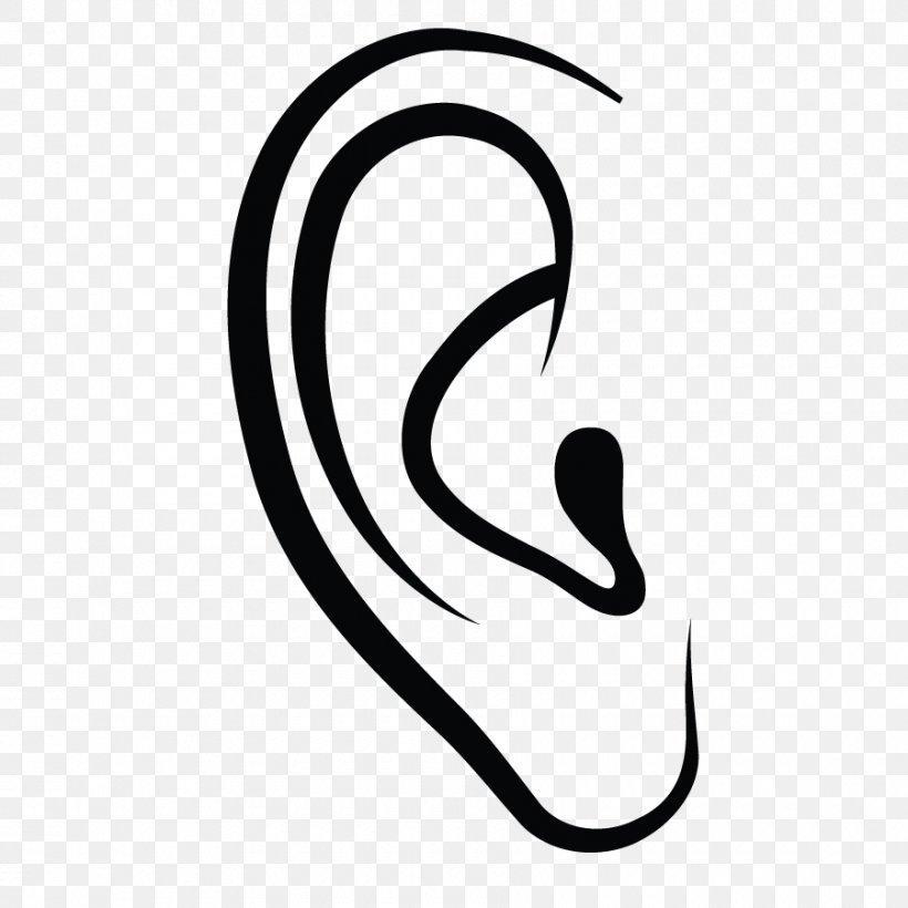 Ear Canal Symbol Clip Art, PNG, 900x900px, Ear, Black, Black.
