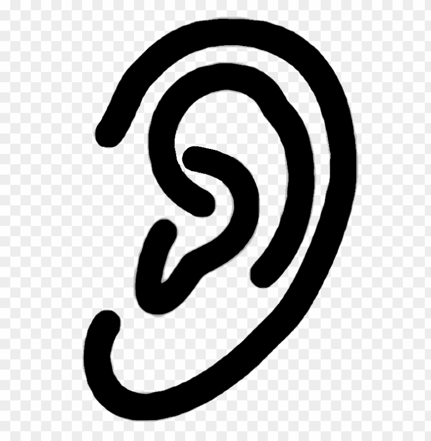 Download human ear clipart png photo.