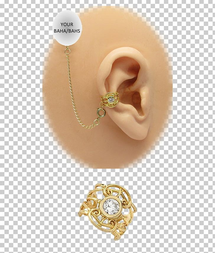 Earring Pearl Кафф Gold.