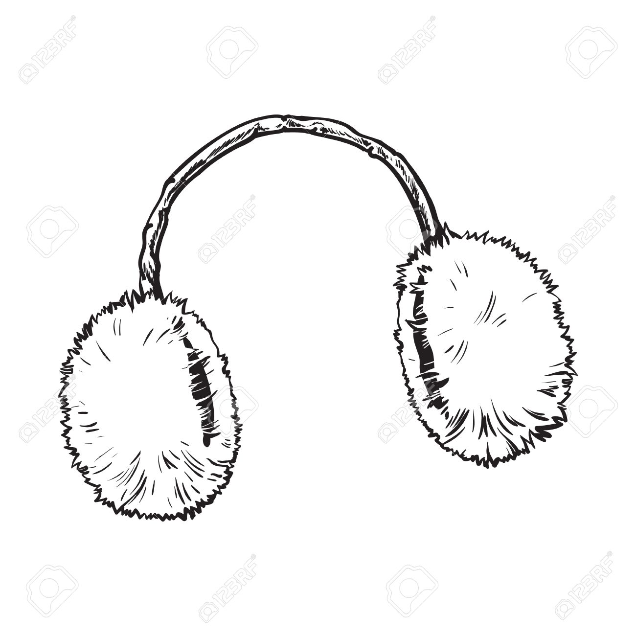 Bright fluffy fur ear muffs » Clipart Station.