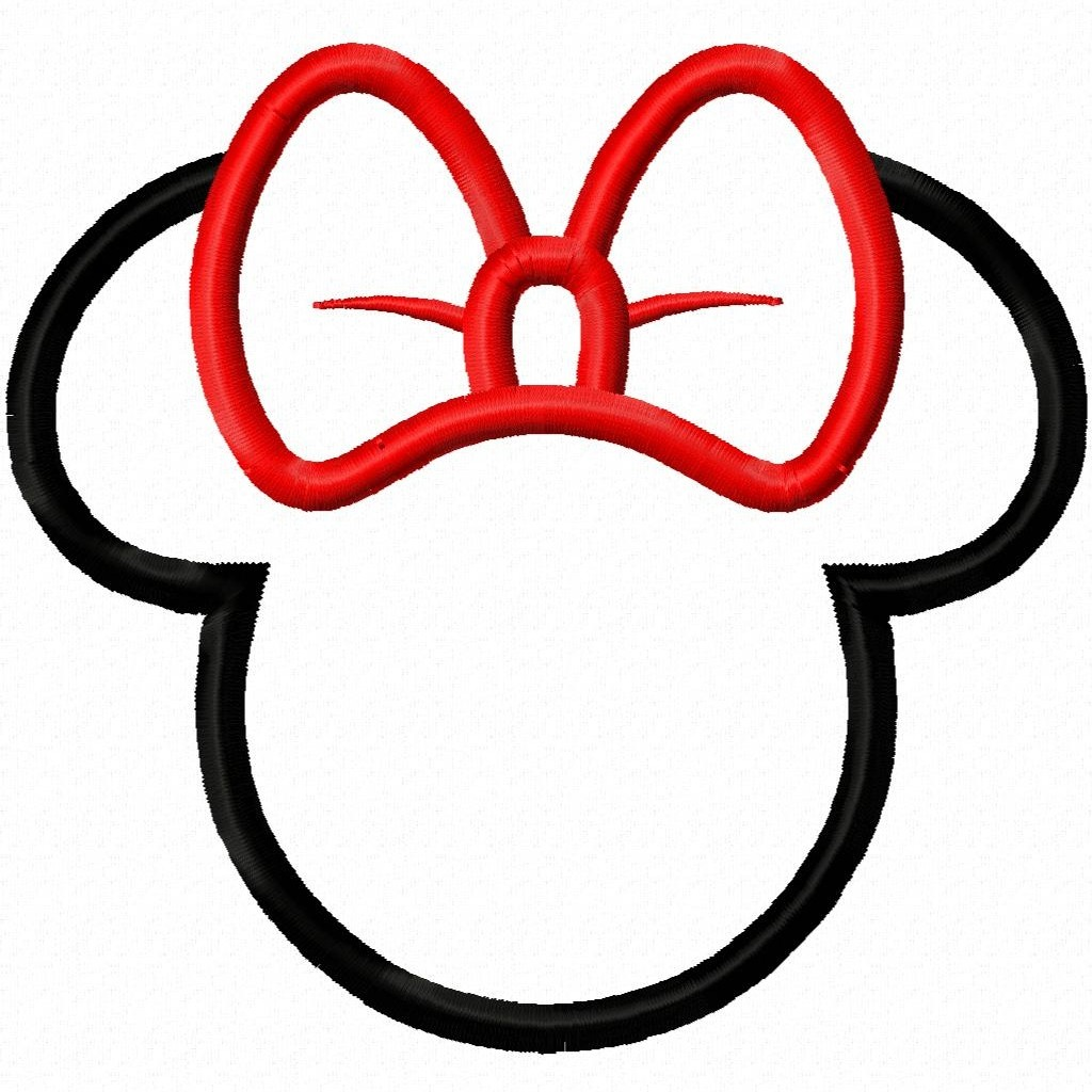 Mickey Mouse Ears Outline.