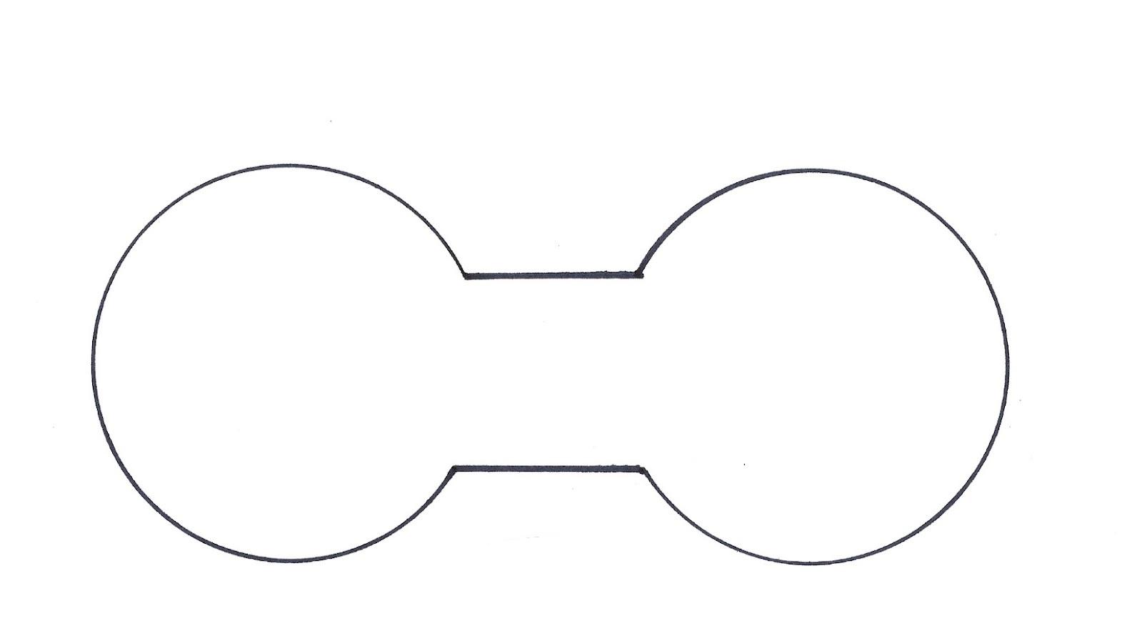 Mickey Ears Outline.
