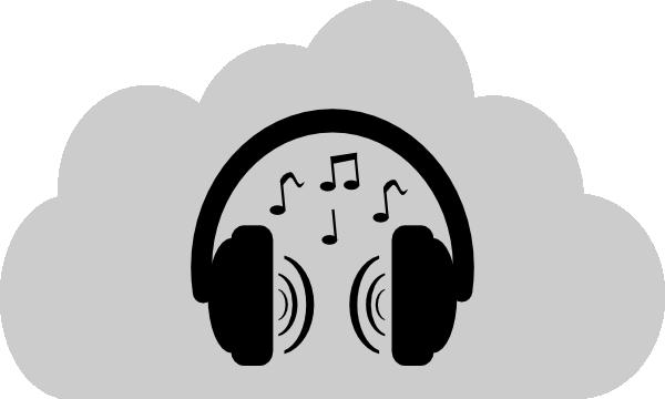 Music earphones clipart.
