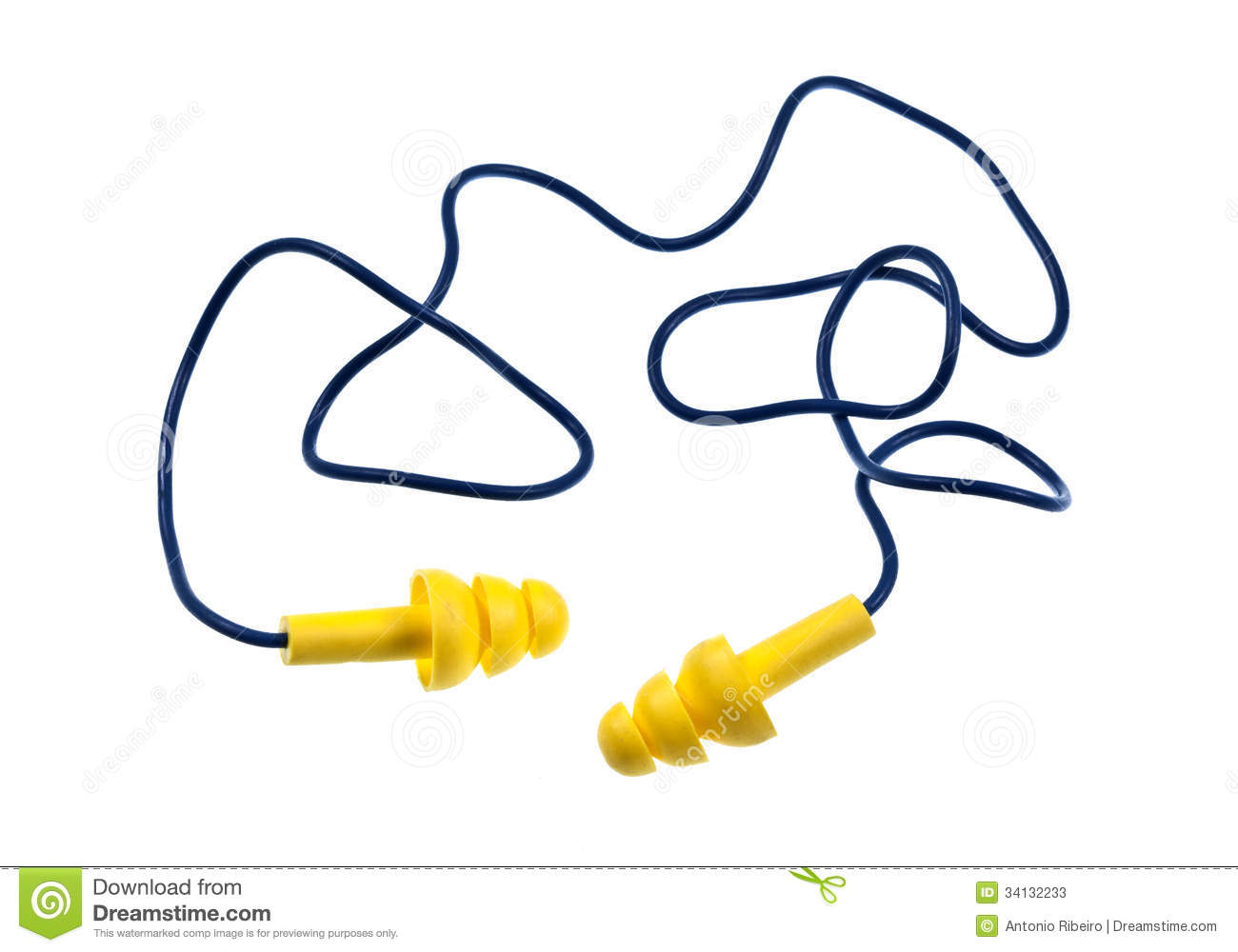 Ear plugs clipart.