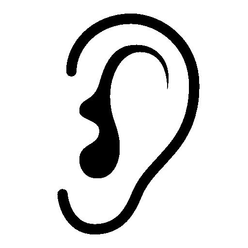 Ear listen icon #2641.