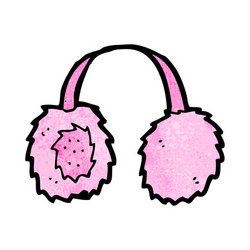 Funny Ear Muffs Clipart.