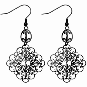 Earring clipart black and white New Earrings clipart black.