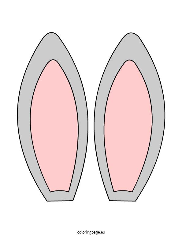Bunny Egg Shape Clipart.