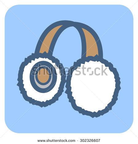 Ear Warmer Stock Vector Illustration 302326607 : Shutterstock.