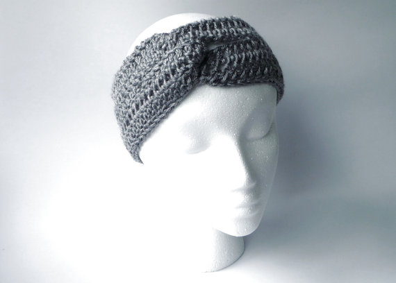 Boho Headband CROCHET PATTERN Crochet Ear Warmer by zxcvvcxz.