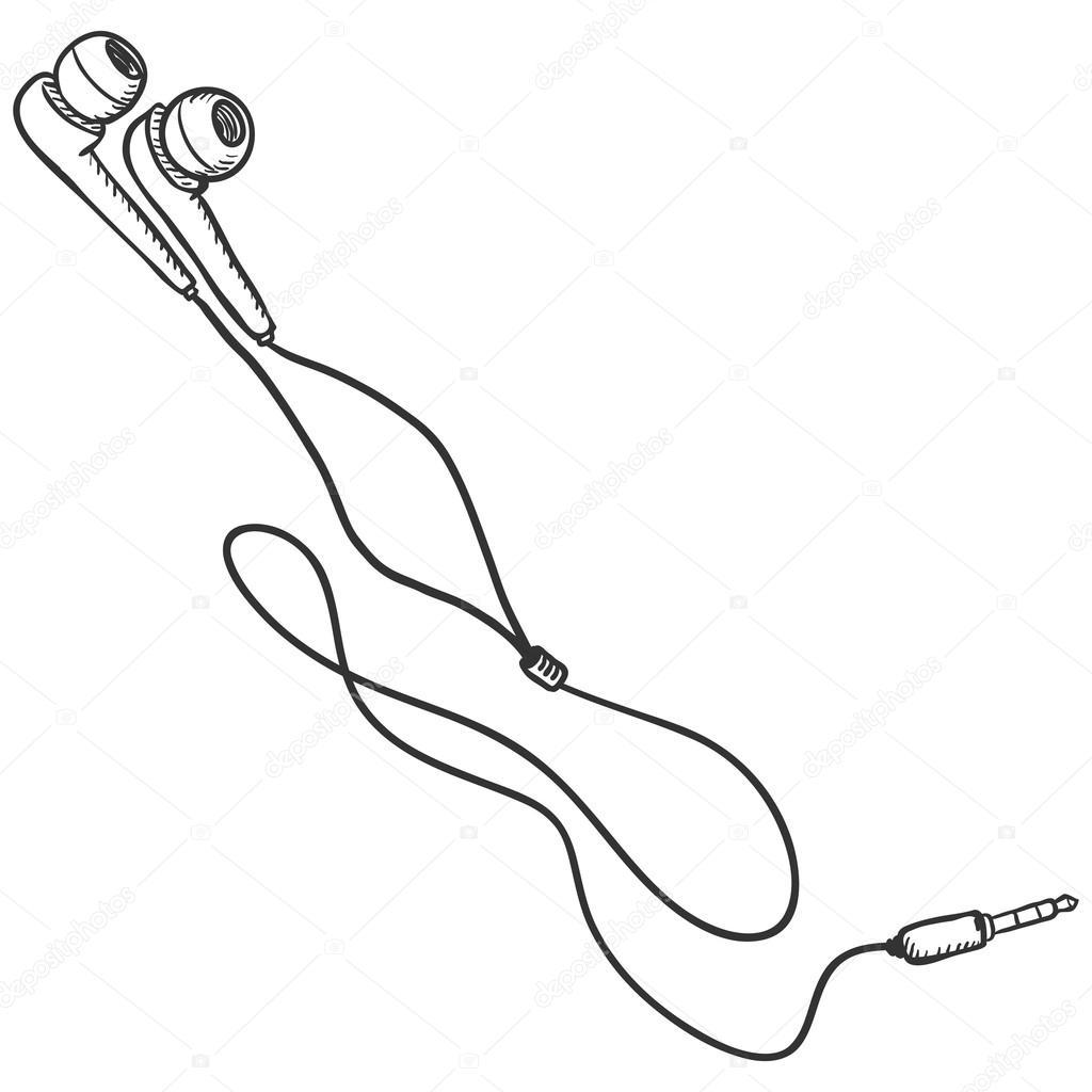 Earbud clip art.