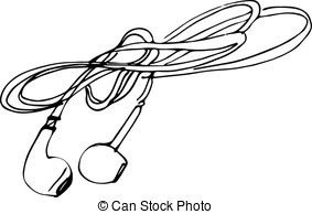 Earbuds Clipart Black And White & Free Clip Art Images #10560.