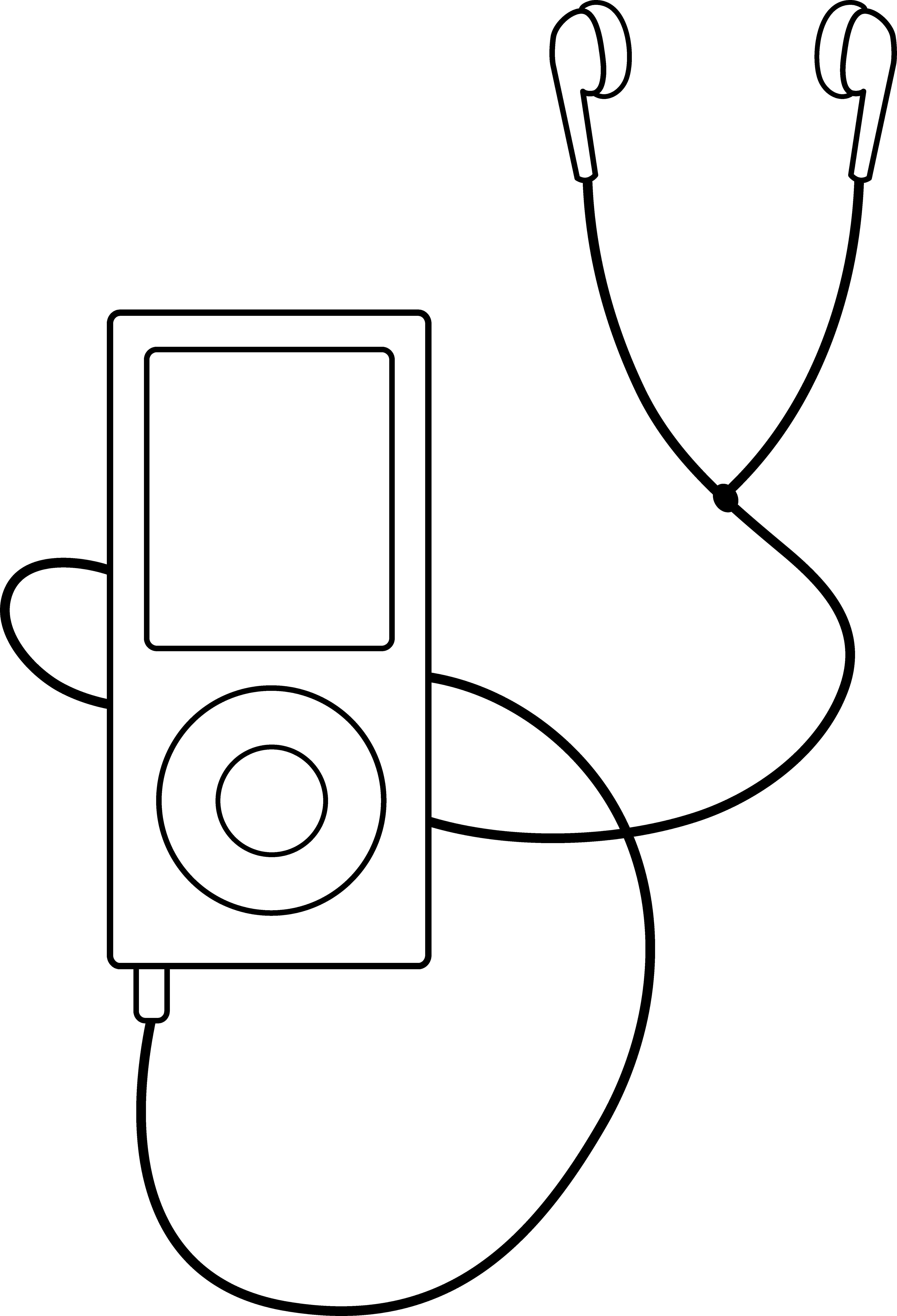 Earbuds and Headphones Clip Art.