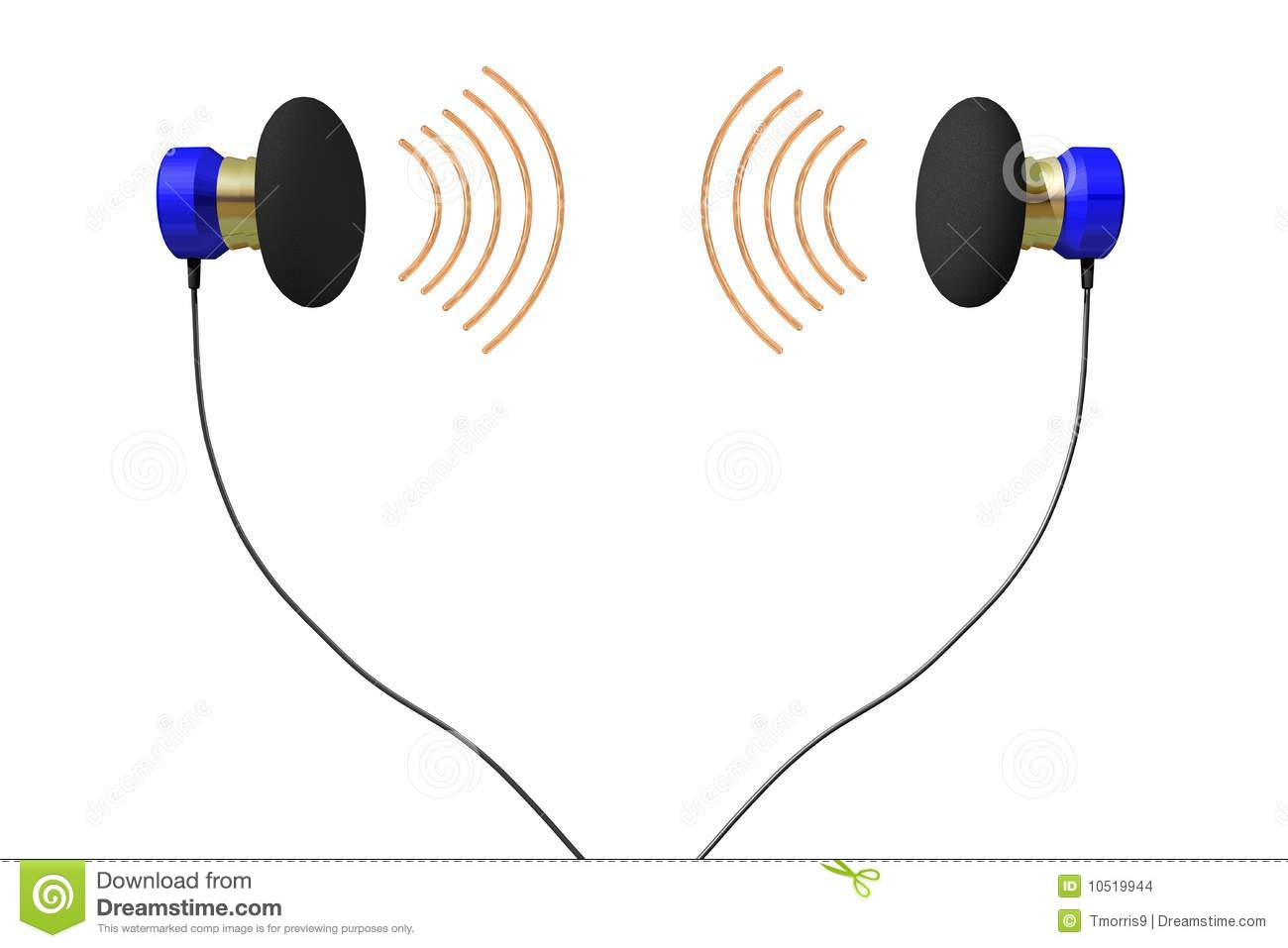 Earbuds Stock Illustrations.
