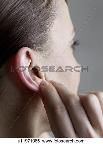Stock Image of massage at the earlap u11971065.