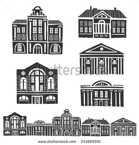 The old building clipart #7