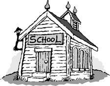 Scary school building clipart.