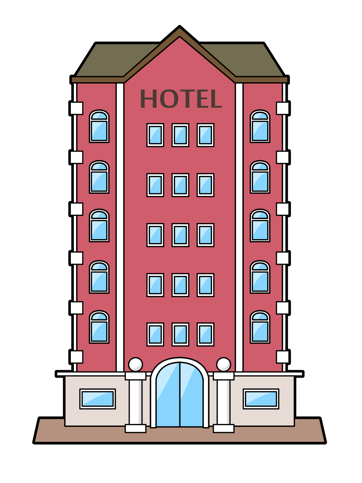 Hotels Clipart.