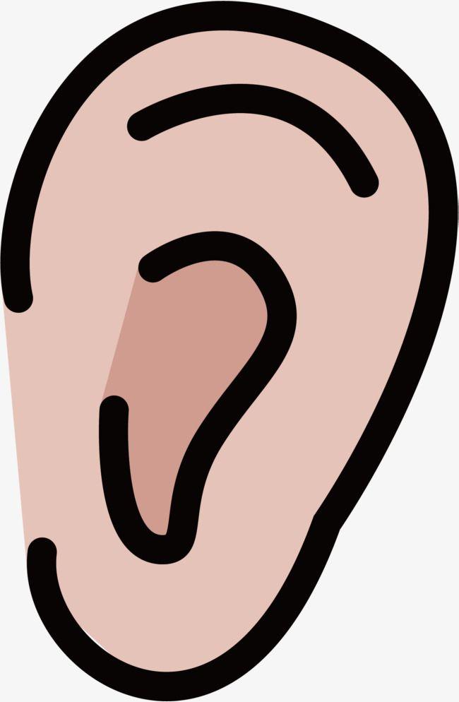 Cartoon Ear, Earlobe, Cartoon, Biological Medicine Advertisement PNG.