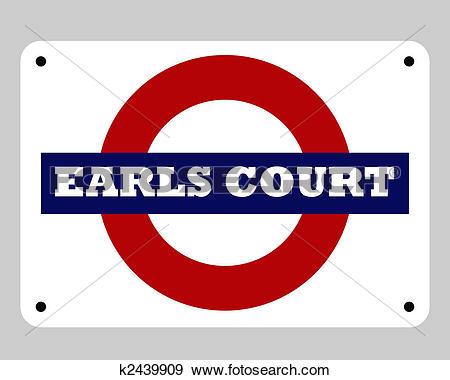 Stock Illustration of Earls Court Tube sign k2439909.