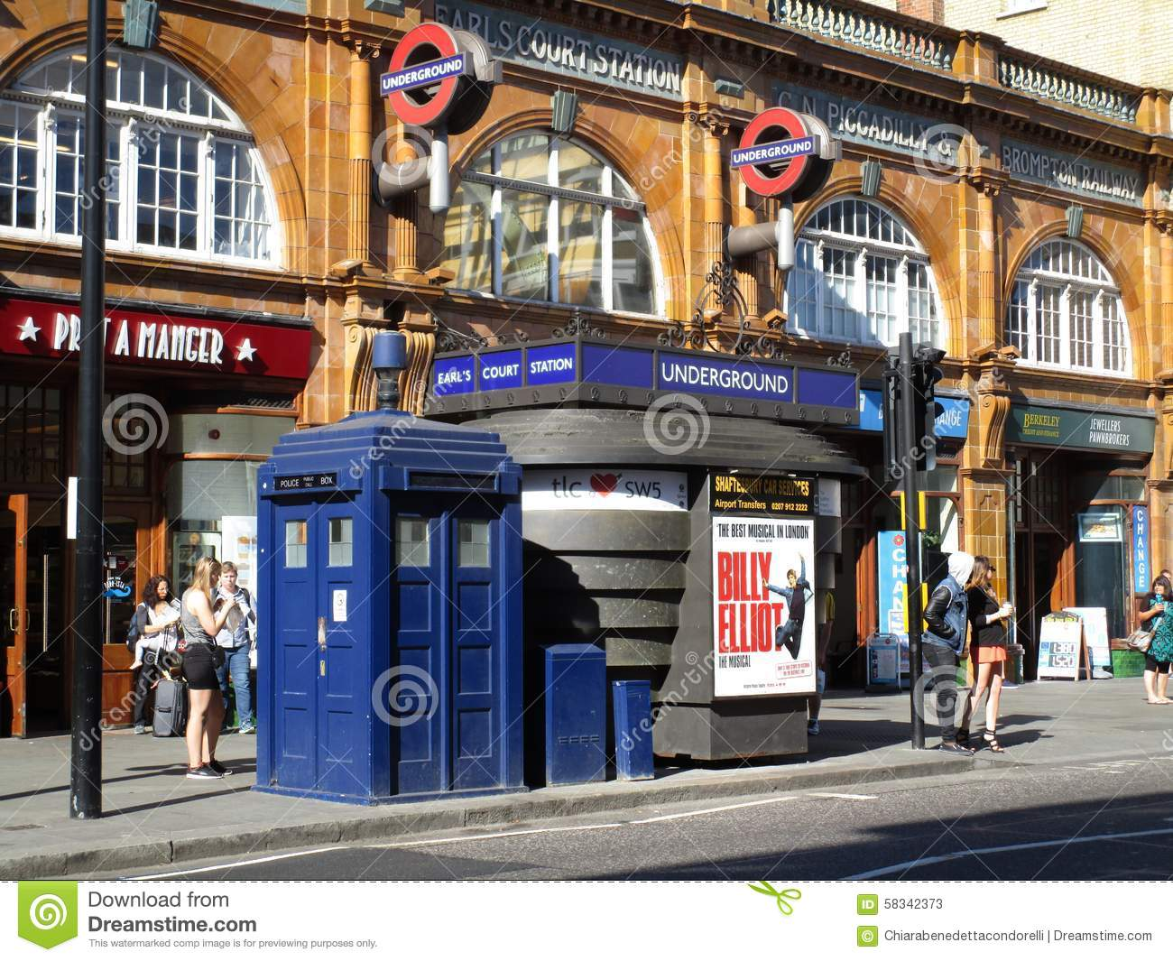 Earls Court Metro Station Editorial Stock Photo.