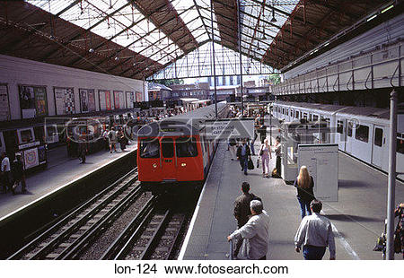 Stock Photo of Earls Court Underground Station London UK lon.
