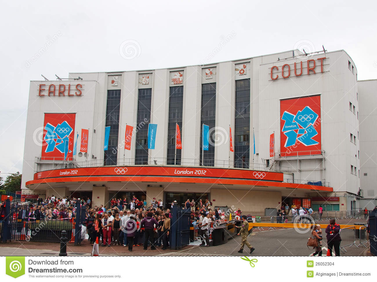 Earls Court, London Editorial Stock Image.