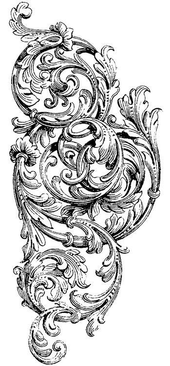 victorian scroll clip art.