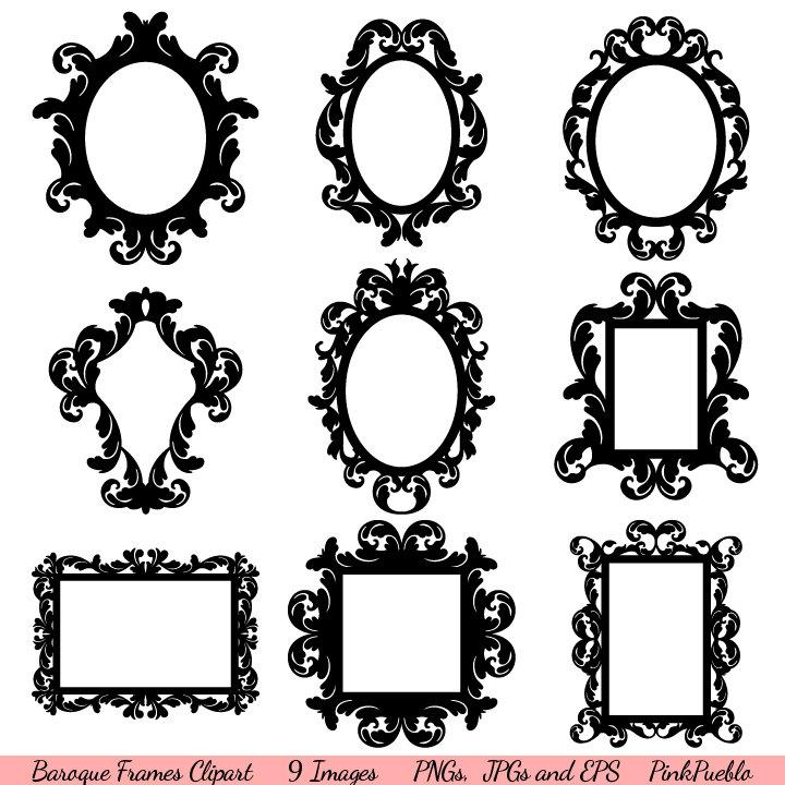 Baroque Frames Clipart Clip Art Vintage Frames Borders.