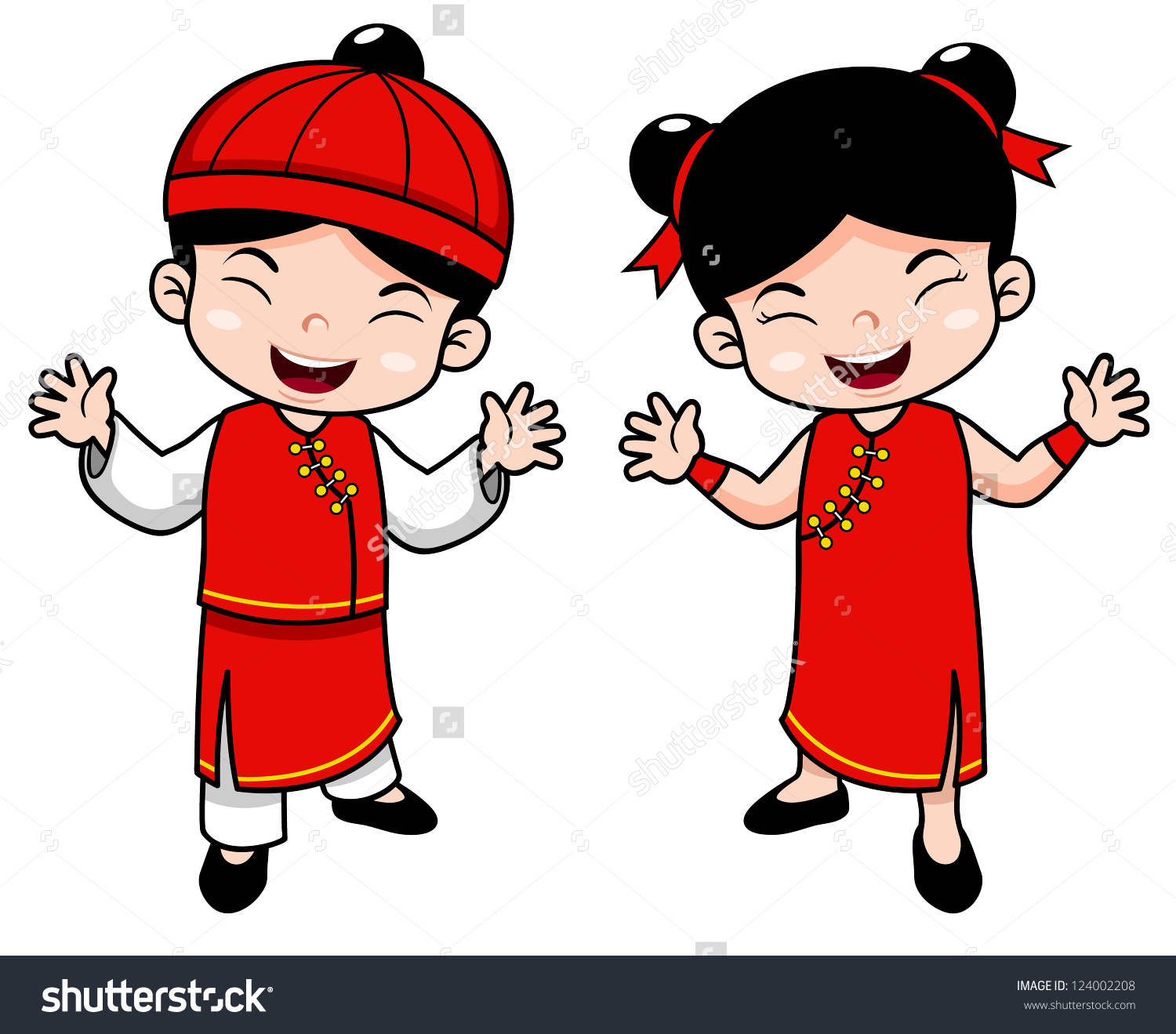 Chinese boy clipart.