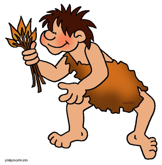 Free Early Human Clip Art by Phillip Martin, Fire.