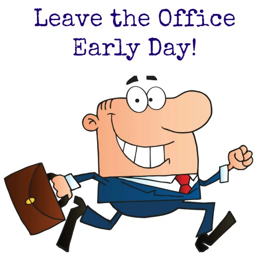 Leave Work Early Clipart.