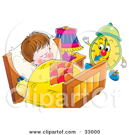 Wake up early clipart.