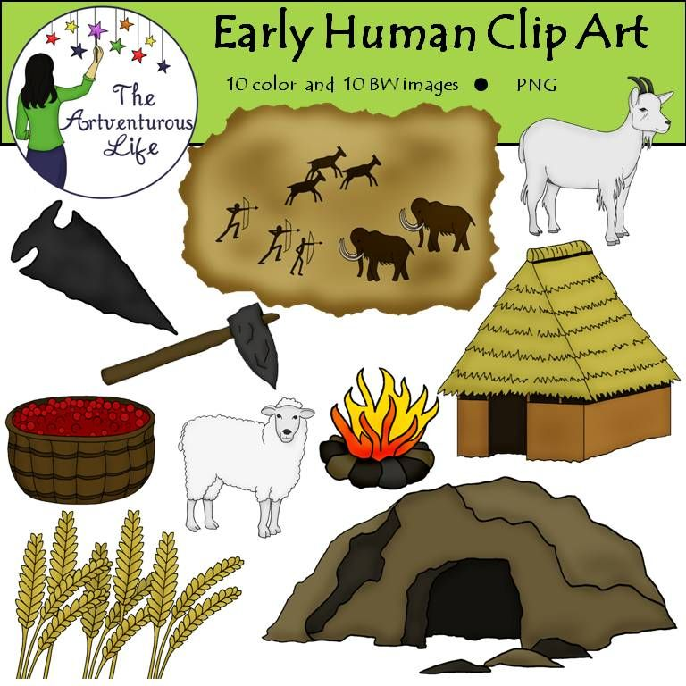 Early Human Clip Art.