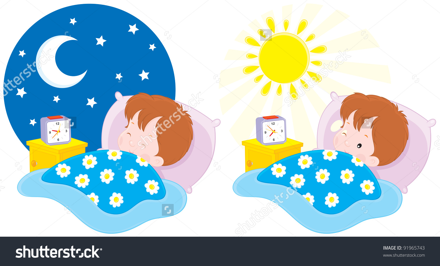 Wake up early in the morning clipart.