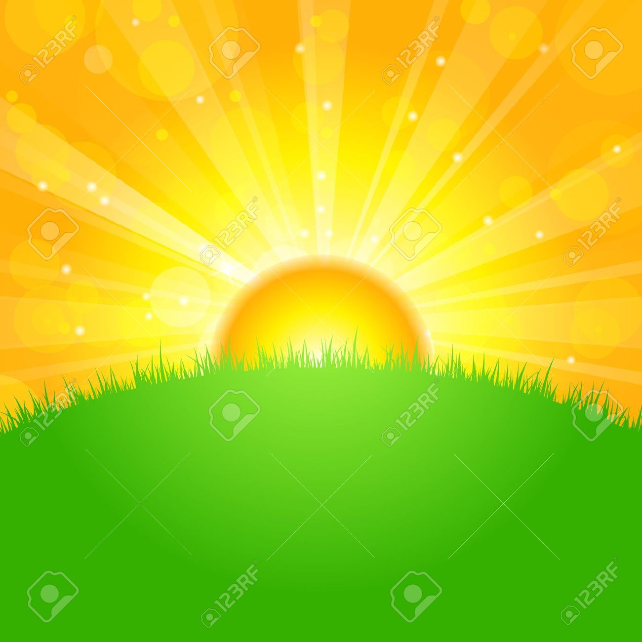 Early morning sun rise clipart - Clipground