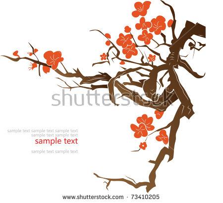 Chinese Plum Tree Stock Photos, Royalty.