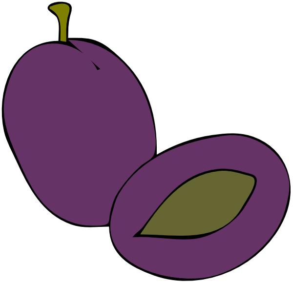 Plum Fruit Food clip art Free Vector / 4Vector.