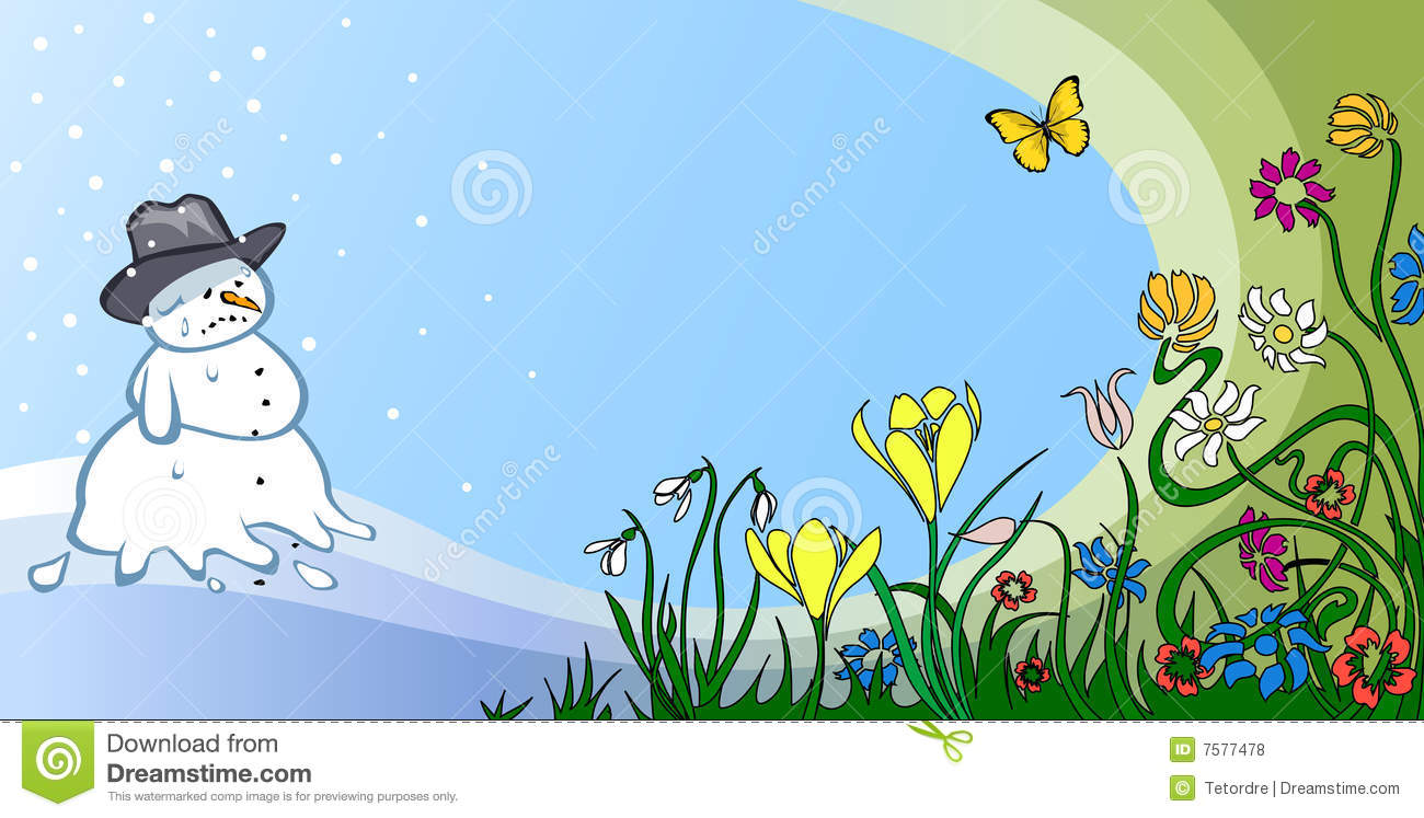 Spring Thaw Stock Illustrations.