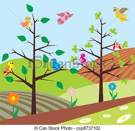 Early Spring Clip Art.