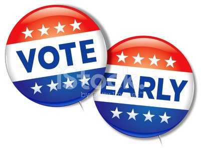 Vote Early Clipart Image.