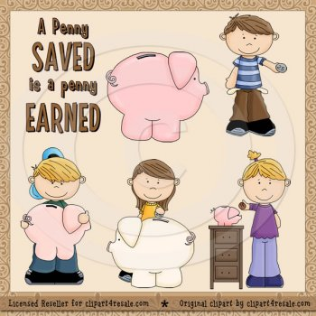 A Penny Saved Exclusive by Clipart 4 Resale.