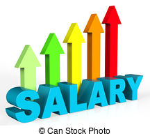 Clipart of Salary Word Indicates Pay Salaries And Employees.