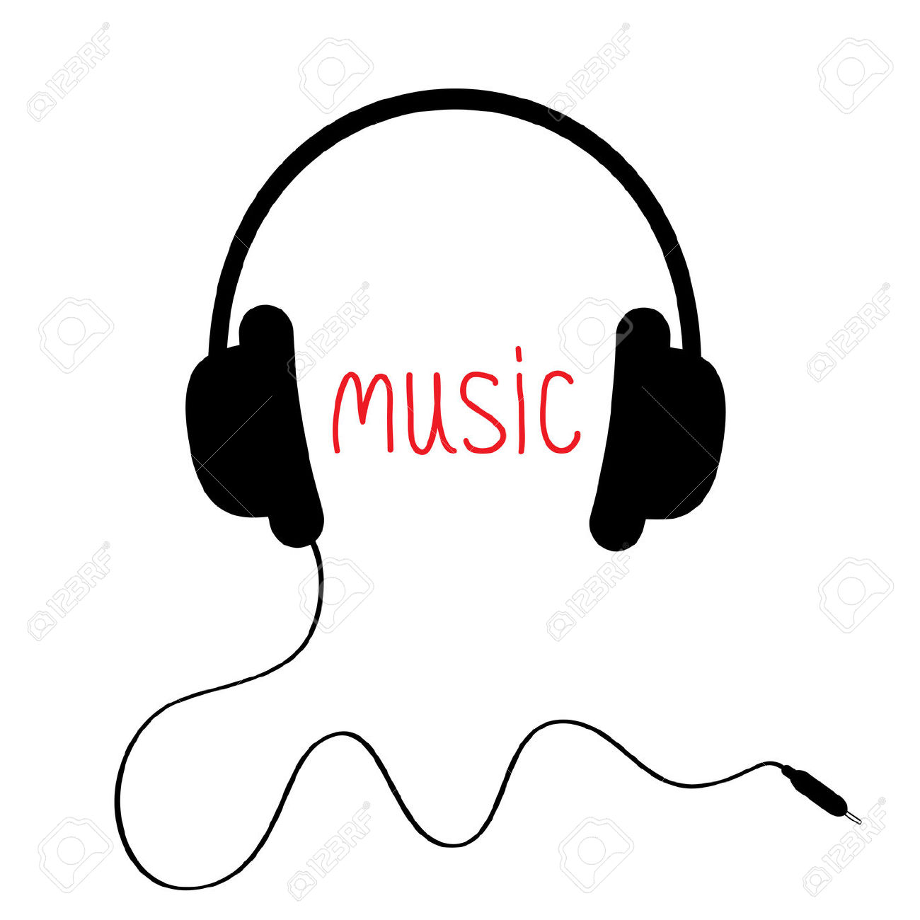 Music earphones clipart.