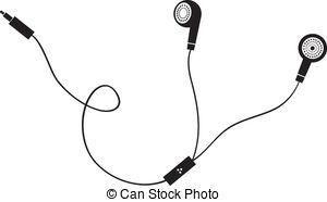 Vectors of earphone symbol on gray background csp19099733.