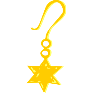 Gold Earring Clipart.