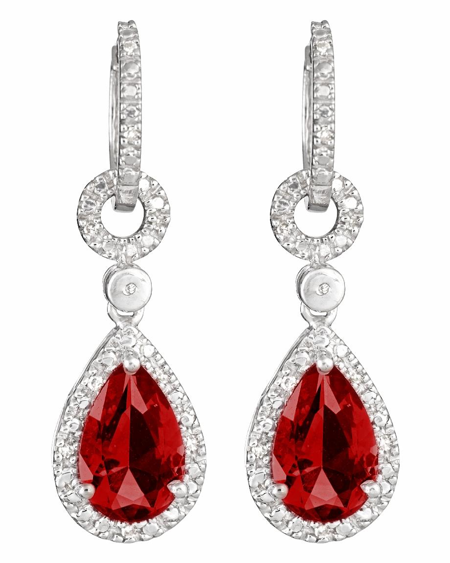 Diamond Earrings Png Image.