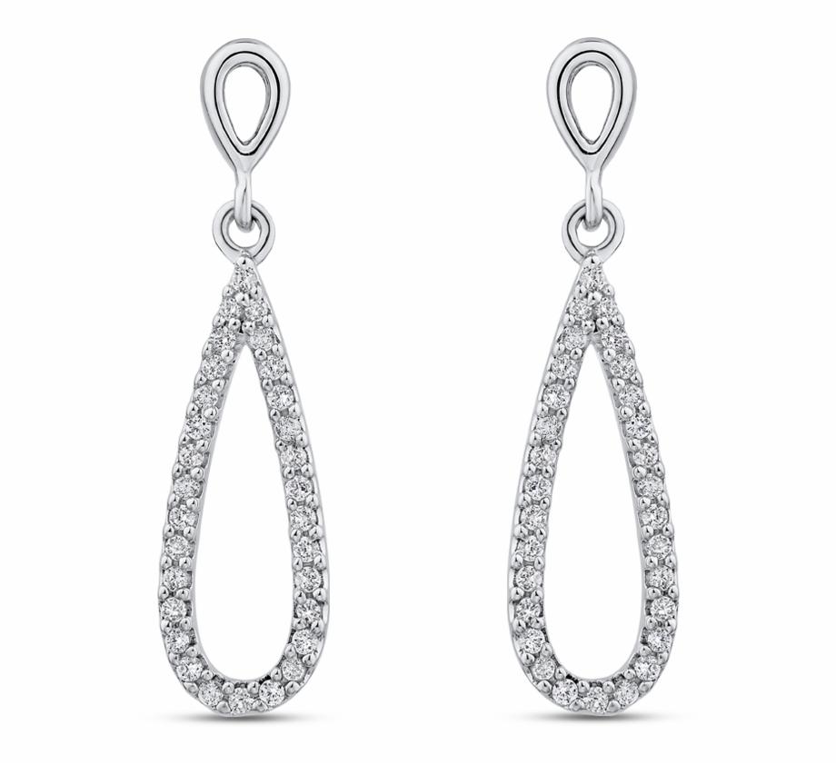 Diamond Teardrop Earrings.