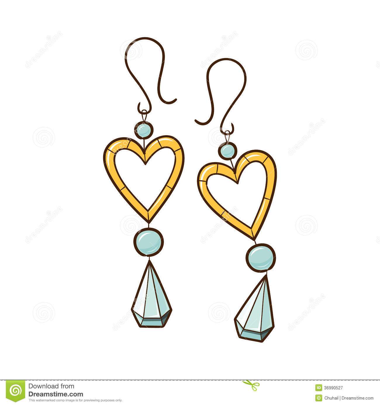 Clipart of earrings.